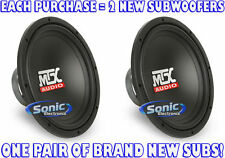 "(2) MTX 800W 12"" TERMINATOR SERIES Single 2 Ohm Car Subwoofers/Subs 