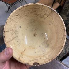 Bol Terre Cuite Vernissée Jaune Pot Ancien Vaisselle Service Poterie Plat