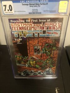 teenage mutant ninja turtles 1 Fourth Print CGC 7.0