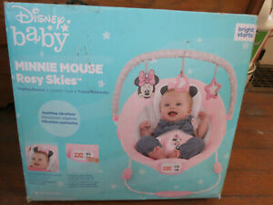 DISNEY BABY MINNIE MOUSE ROSY SKIES CRADLING BOUNCER BNIB FREE SHIPPING