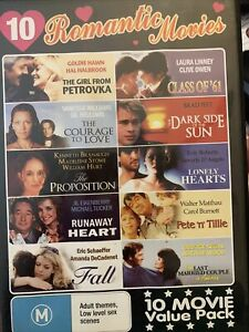 10 Romantic Movies DVD WV1 - 4-disks great condition titles below
