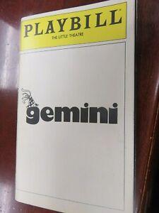 Playbill Gemini 1980
