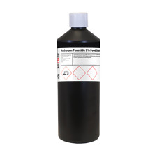 Grado Alimenticio peróxido de hidrógeno 9% 1 Litros (1l) - ** alta Calidad Grado Alimenticio **