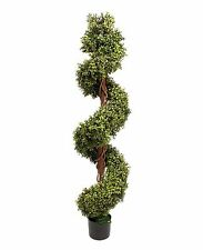 Artificial 5ft / 150cm Boxwood Spiral With Stem Topiary Tree Outdoor Use Plant