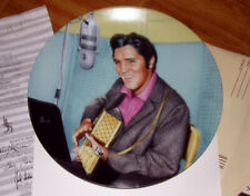 """ELVIS PRESLEY 'A Studio Session"""" Ltd numbered 8"""" plate with box & all inserts"""