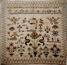BEAUTIFUL! CROSS STITCH CHART ANTIQUE DUTCH SAMPLER NEEDLEWORK PATTERN 1753