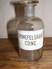 LABORATORY PHARMACY GLASS CHEMICAL BOTTLE /STOPPER DECORATIVE PIECE