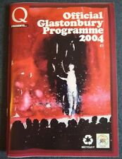 Glastonbury Festival 2004 Q daily newspapers and official programme bundle