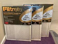 3M Filtrete 2200 Elite/Premium Allergen 20 x 25 x 1 (3 Pack)-New