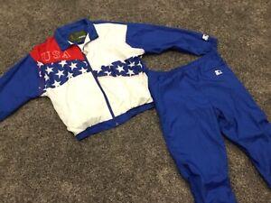Atlanta Olympics 1996 Collection STARTER Jacket Pants Set VTG Rare Set Nylon L M