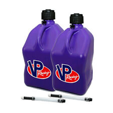 2 Pack VP Racing Purple 5 Gallon Square Fuel Jug/2 Deluxe Hoses/Water/Gas Can