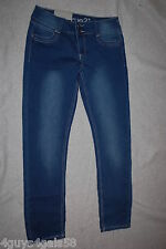 Junior Womens Rue 21 SKINNY Blue Jeans Stretchy Mid Rise Prefaded 5 / 6 Short