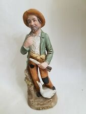 Vintage Homco- Old Man with a pipe and knife w/duck