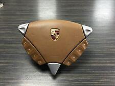 Genuine Porsche Cayenne 955 Multi function Steering Wheel Airbag in Tan Leather
