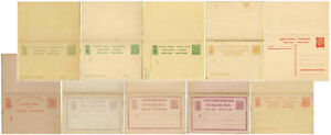 LUXEMBURG REPLY PAID POSTAL STATIONERY CARDS....EACH PRICED
