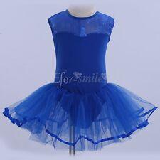 Girls Gymnastics Dancing Dress Kids Ballet Dancewear Leotard Children Costume