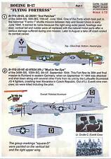 Print Scale Decals 1/72 BOEING B-17 FLYING FORTRESS Part 1
