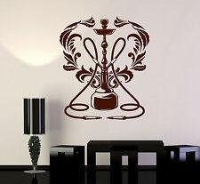 Vinyl Wall Decal Hookah Club Shisha Lounge Smoking Stickers Mural (ig4149)