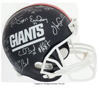 1986 New York Giants Super Bowl Champs Team Signed Full Size Helmet Leaf Cert!🔥