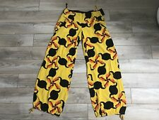 Totem Brazilian Womens Straight Leg Pants Sz 1 Yellow Black tucano print