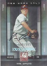 2008 Ike Davis Donruss Extra Edition Rookie Card Oakland #125 776/995