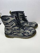 Dr. Doc MARTENS 1460 Canvas Boots 8 Eye CAMO US MENS Size 6 NEW W/OUT BOX