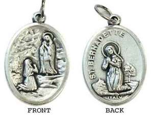 NEW  Holy Medal - Our Lady of Lourdes - St Bernadette - *FREE POSTAGE*