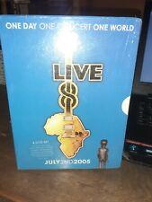 Live 8 DVD 4-Disc Coffret Classique 2005 Concert U2 Coldplay Elton John The Who