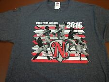 2015 Nashville Sounds Minor League  Baseball   T Shirt Medium V3