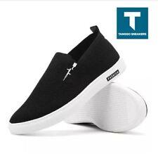 Tanggo Ronald Men's Fashion Slip On Sneakers Shoes B05 (BLACK) - SIZE 43