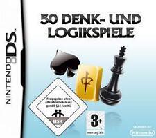 NINTENDO DS 3DS 50 DENK LOGIK SPIELE Karten Brettspiele Top Zustand