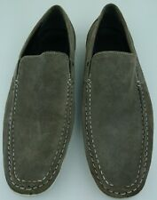 Kenneth Cole Reaction Men 10.5 M Gray Ash Super Human SU Suede Loafers Shoes