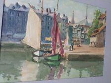 INGLOT André (XX)-Pologne-Normandie-France-aquarelle-marine-Honfleur