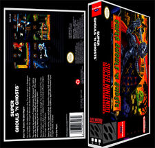 Super Ghouls and Ghosts - SNES Reproduction Art Case/Box No Game.