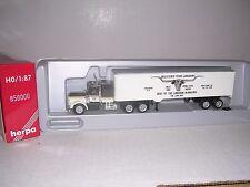 "Herpa #850000 Kenworth Cab w/40' ""Texas Longhorns"" Box Trailor ""White"" H.O.Gauge"