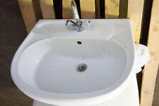 Waschbecken Waschtisch Keramik 60cm gebraucht mit Armatur