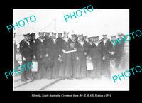 OLD POSTCARD SIZE PHOTO GLENELG SOUTH AUSTRALIA, THE HMAS SYDNEY CREW c1914
