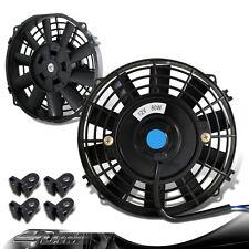 "Black 7"" Pull/Push Electric Cooling Slim Engine Bay Radiator Fan For LEXUS MAZDA"