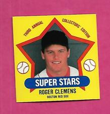RARE 1989 ROGER CLEMENS SUPER STARS THIRD ANNUAL COLLECTORS EDITION (INV C0985)