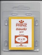 Package of 40 Prinz CLEAR Mounts 22 x 25