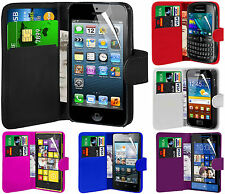 Cartera Flip Case With Lcd Screen Protector Protector Para Varios Teléfonos Móviles