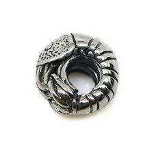 SILVER PLATED SHELLFISH SHRIMP BEAD SPACER CHARM ** SEE MY STORE FOR BRACELETS
