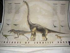 Vintage Dinosaurs of Jurassic Park Poster-1993
