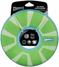 Chuckit Zipflight chien fetch toy max glow in the dark frisbee ring rechargeable md