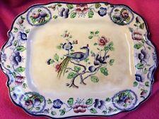 S Hancock  & Sons Corona Ware Platter Plate Vintage Old Woodstock