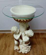 More details for gold & ivory coloured cherub planter / side table decorative ornament