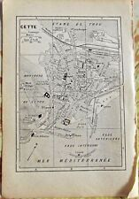 1930 the guide of the old town Cette ( sète )  Department 34 old map art print