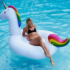 78' Giant 2 Person Raft Inflatable Unicorn Mounts Floats Swimming Pool Toy Gift
