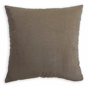 Mf07a Taupe Gray Plain Silky Soft Velvet Cushion Cover/Pillow Case Custom Size