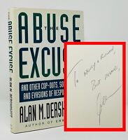 Alan M Dershowitz - The Abuse Excuse - SIGNED 1st 1st - Lawyer O.J Simpson